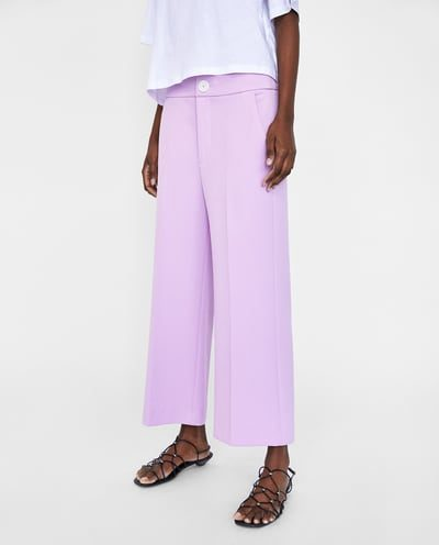 Coloured Cropped Trousers