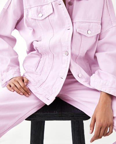 Coloured Oversized Denim Jacket
