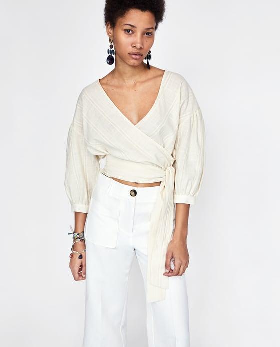 Zara Puffy Sleeves Top 3