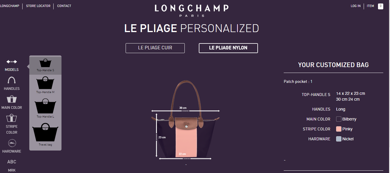 a70e0783a22 If you have a Le Pliage with your name labelled on it or a custom mix of  two different stripe colours, you'll find it easier to spot your bag and  know it's ...